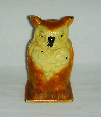 "1930's Vindex Toys Cast Iron 4 1/4"" OWL Bank"