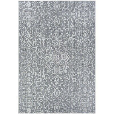 """Couristan Palmette Grey-Ivory In-Out Runner, 2'3"""" x 7'10"""" - 23294716023710U"""