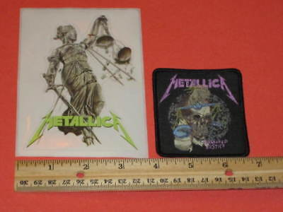 Metallica - And Justice For All Sticker + Damaged Justice Patch PROMO lp cd reis