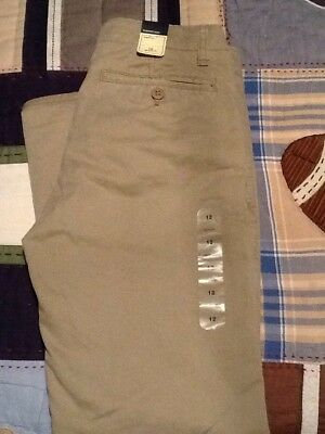 New With Tags Boy's Gap Kids Fully Lined Chinos Size 12 Regular