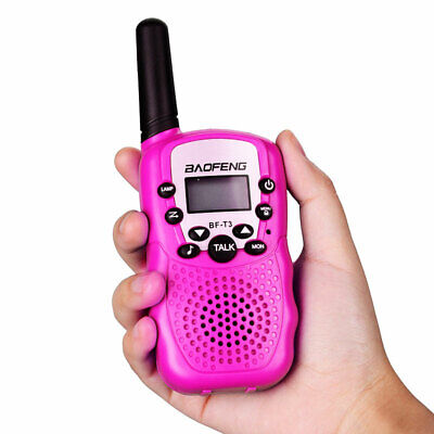 2 pack Pink T3 Kids Walkie Talkies 22Channels Longe Range 2 Way Radio for Gift