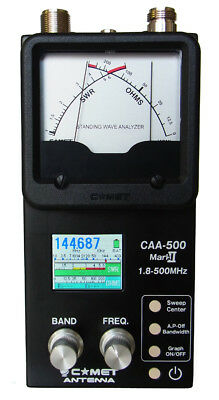Comet CAA-500 Mark II SWR & Antenna Analyzer 1.8 to 500 MHz