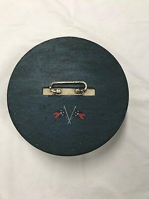 """Vintage 1940""""s poker chip carousel round spinning wheel with two decks of cards"""