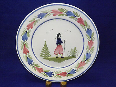 Henriot Quimper Faience Plate - Man