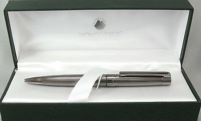 Monteverde Ascona Gunmetal Fluted Ballpoint Pen - New in Box