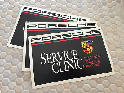 PORSCHE FACTORY ISSUED SERVICE CLINIC COLLECTOR POSTCARD SET OF 3 LATE 1980's