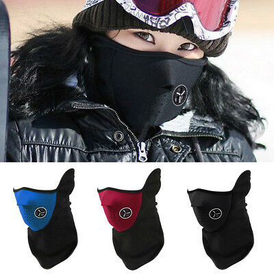 Outdoor Ski Motorcycle Cycling Balaclava Half Face Mask Neck Scarf Windproof New