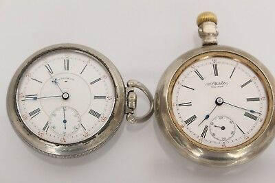 Antique Lot Of Two Waltham Open Face Hand Wind Pocket Watches