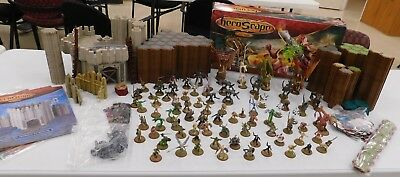 Huge HeroScape lot of 80 miniatures Fortress of the Archkyrie 100+ tiles w/box