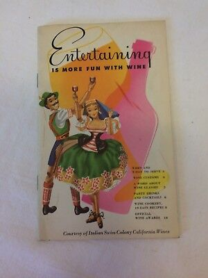 Vintage Collectible Recipe Guide Booklet Entertaining is More Fun Italian Swiss