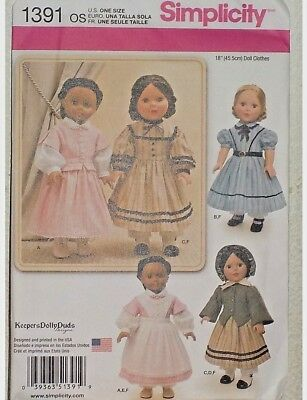 Doll Clothing  Pattern  Fits 18 inch  American Girl  -- 1391