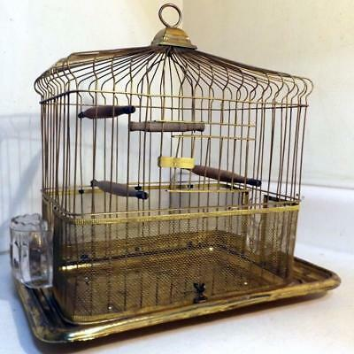 Rare Antique O.L.&Co.Victorian Era Brass Bird Cage Professionally Polished c1900