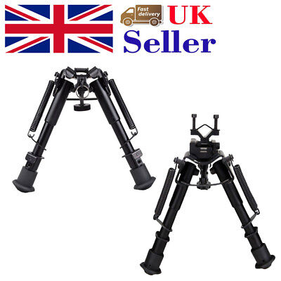 "Tactical 6""-9"" Bipod Adjustable Spring Sniper w/Swivel Mount 20mm Sling Adapter"