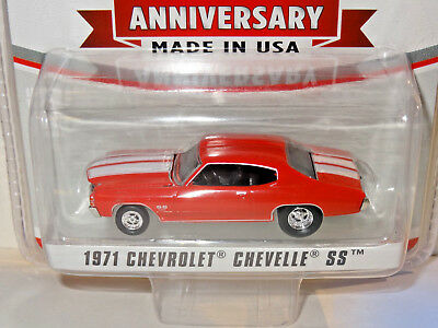 2018 Greenlight Hobby Exclusive Red 1971 Chevy Chevelle Sta-Bil 60Th Anniversary