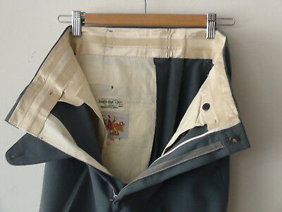 ORIGINAL VINTAGE DEADSTOCK 1940S 50S  MEN'S WOOL PANTS  W30 x 32 HOLLYWOOD WAIST