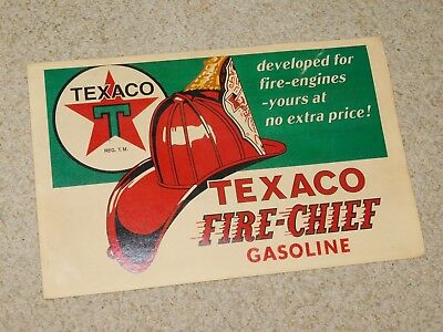 Vintage 1960-70S Texaco Fire Chief Gasoline Window Advertising Sign
