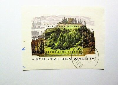AUSTRIA,  1985, Minisheet - Used, YEAR OF THE FOREST