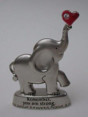 M Remember you are strong ALWAYS REMEMBER YOU ARE LOVED Elephant figurine