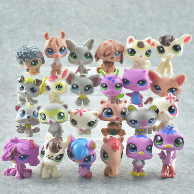 24Pcs/pack Littlest Pet Shop Lot Animals LPS Figure Toys Dog Lion Cat Cow Kids