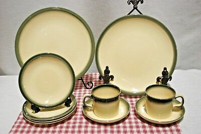 LOT Wedgwood ATLANTIC 2 Dinner, 4 Bread + Butter, 2 Cups + Saucers.