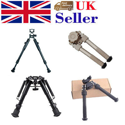 Universal Adjustable Bipod Precision Sniper w/Swivel Airsoft Weaver Rail Mount