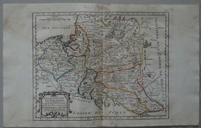 Poland Russia - copper engraving map J.B. Nolin 1791