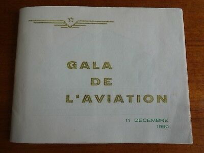 Rabat Maroc Program Gala De L'aviation 1950 Rare Billy Nencioli Cirque Medrano