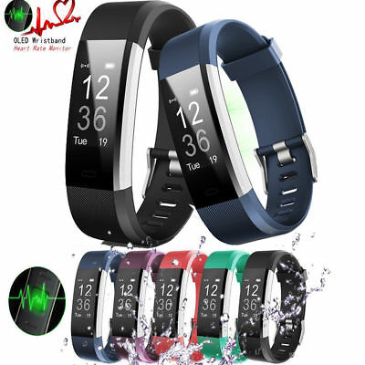 Bluetooth Activity Sleep Tracker Fitness Wristband Pedometer Smartwatch Fit Bit