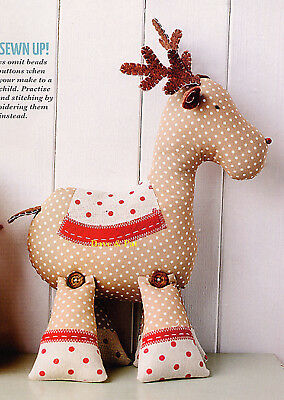 Originl Sewing Pattern To Make Roger Reindeer Christmas Decoration Toy Doll