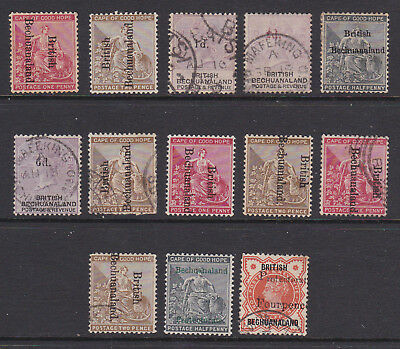 1880s QV Bechuanaland useful mint/used range