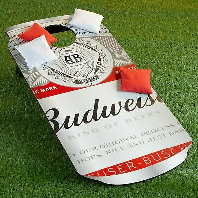 Budweiser Can Bean Bag Toss Cornhole Corn Hole Lawn Game 8 Bags Included