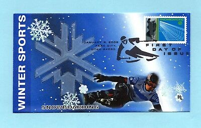 U.s. Fdc #3554 Hobby Link Cachet - Snowboarding From The Winter Olympics Set
