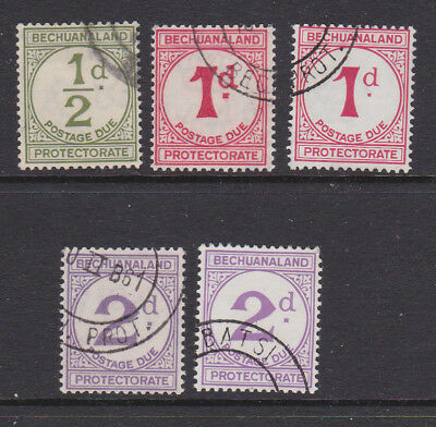 1932-58 GVI Bechuanaland dues used, SG cat £150+