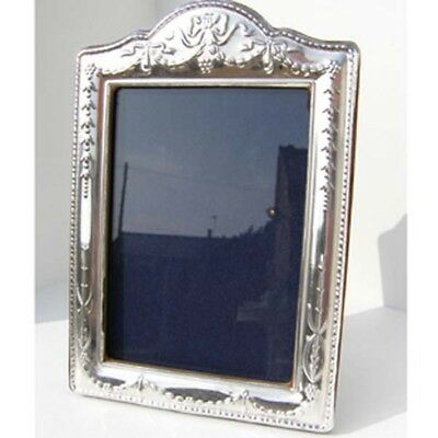 Silver Picture Frame.  Hallmarked Sterling Silver Regency Style Photo Frame