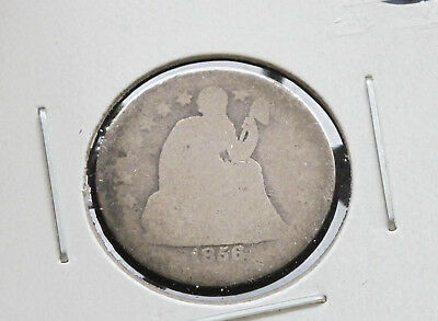1856-P Liberty Seated 90% Silver Dime U.S. Coin D2666