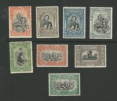 PORTUGAL 1927, 2nd INDEPENDENCE ISSUE. 8 DIFFERENT STAMPS TO 40c. MH