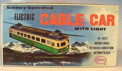 Cosmo Nr. 9991 Electric Cable Car with Light OVP #1654