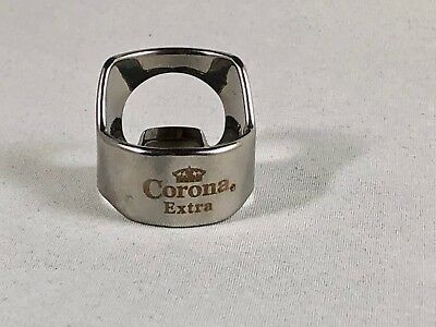 Corona Extra Beer Bottle Opener Ring Stainless Steel Engraved Bar Tool Corona