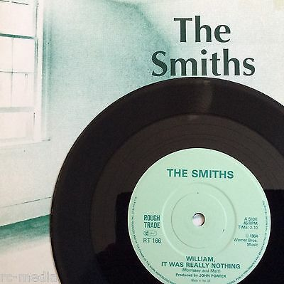 "The Smiths -William It Was Really Nothing- Very Rare Solid Centre 7"" +Pic Sleeve"