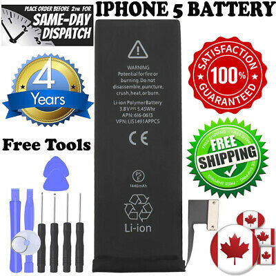 BRAND NEW IPhone 5 Replacement Battery 616-0613 1440mAh with FREE TOOLS KIT