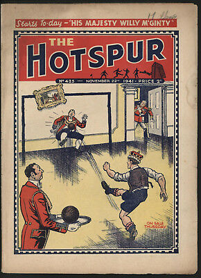 Hotspur #425, Nov 22Nd 1941,  Exceptional Copy From A Private Collection