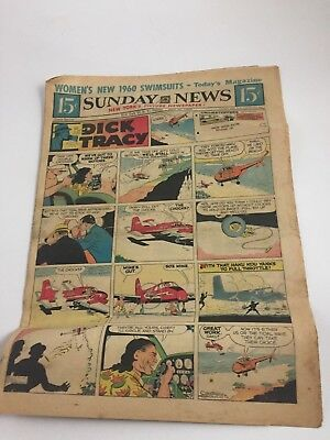 New York Daily Sunday News COMICS 1960 DICK TRACY Crax and Jax Jinglet Lolly