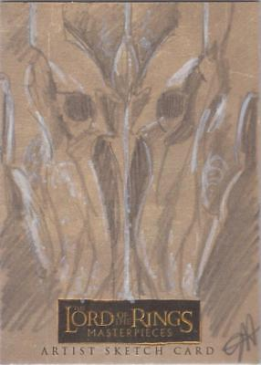 """Lord of the Rings Masterpieces -  Jessica Hickman """"Sauron"""" Sketch Card"""