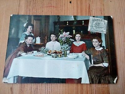 Ancienne Carte Postale Belge N° 2750 6 / Personnages à table / CPA 1912