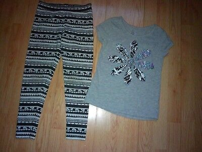 Justice & J.khaki 2 Piece Girls Outfit Size 7-8