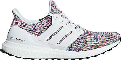 adidas Ultra Boost 4.0 Mens Running Shoes White Multi-Coloured Sports Trainers