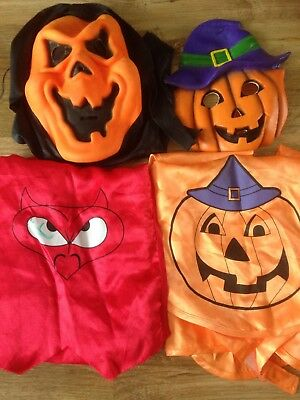 Children's Halloween Masks + Capes