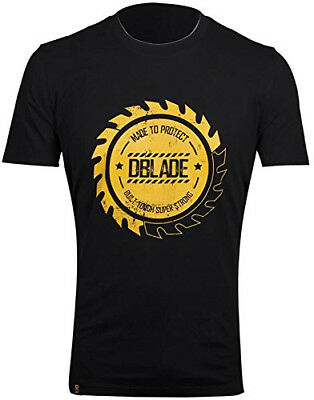 DBlade Corporate Buzz Mens Short Sleeve T-Shirt Black 100% Cotton Top