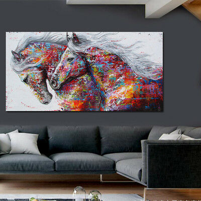 Decor Paint Large Abstract Hand-Painted Horse Oil Painting Home Art Wall Canvas