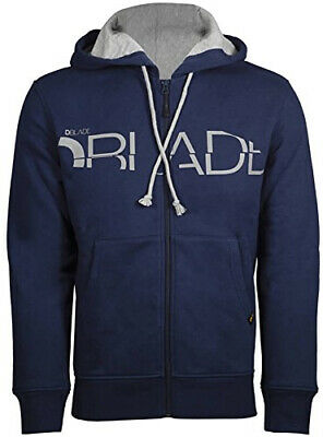 DBlade Mens Hoody Navy Full Zip Soft Touch Fabric Casual Fashion Stylish Hoodie